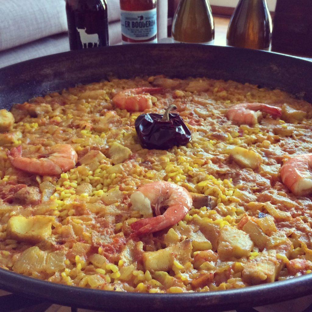Paella de marisco a domicilio en Lima