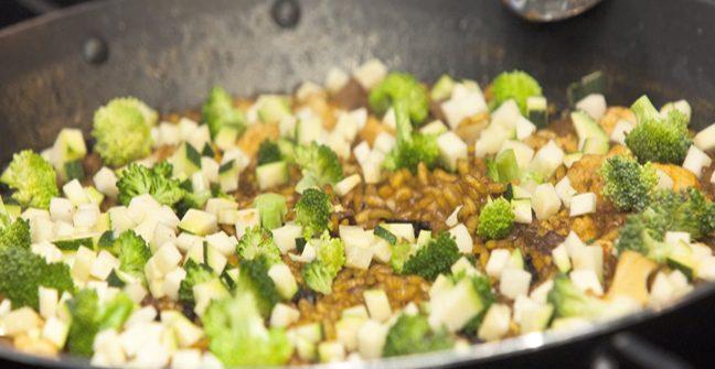 paella de verduras a domicilio en Lima